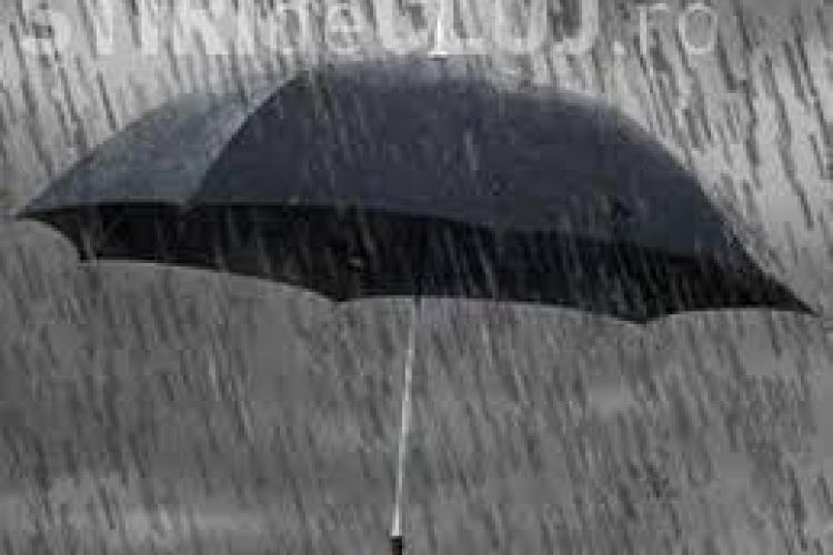Cluj: Vremea se strică în weekend. Va ploua și se răcește