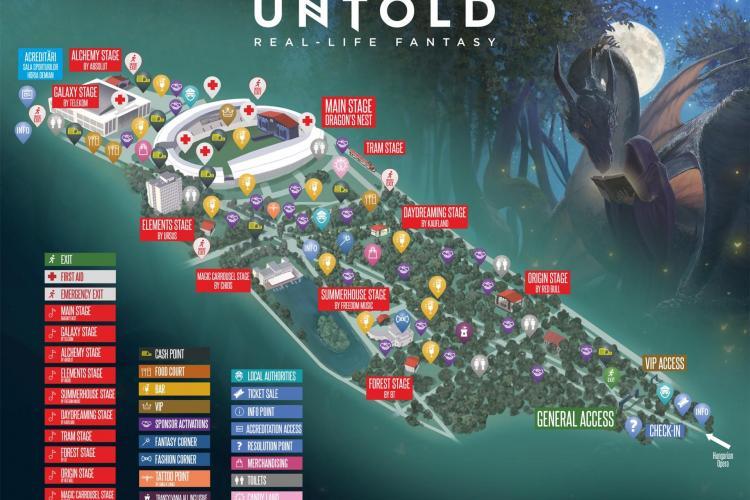 UNTOLD 2017, în cifre: peste 230.000 metri pătrați, scenă de 100 de metri lățime și peste 200 de artiști. Citește aici detalii
