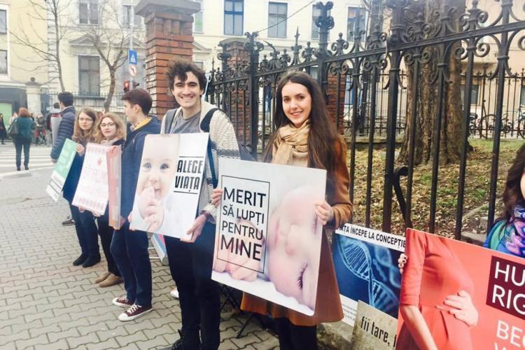 Protest la Cluj timp de 40 de zile, pentru stoparea avorturilor