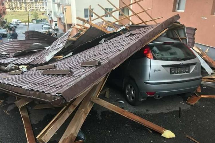 Pagube URIAȘE în Florești, după furtuna de duminică. Ce pot face cei afectați