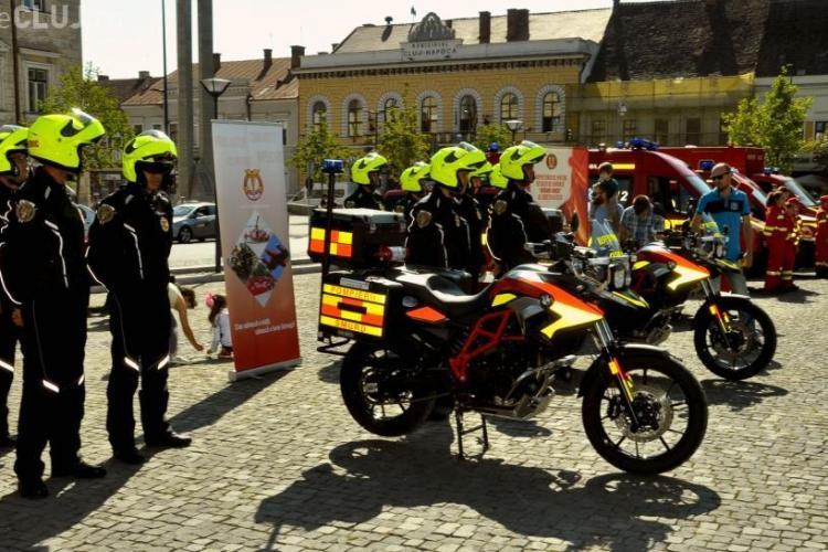 Motociclete SMURD vor interveni la accidente în Cluj-Napoca. Cu cât scade timpul de intervenție  - FOTO