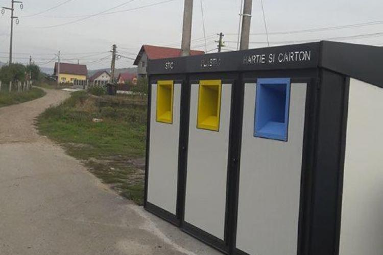 Iclodul dă lecții Clujului. Containere ecologice - FOTO