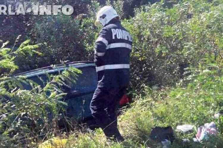 "CLUJ: Accident la Livada. Un șofer a ""zburat"" de pe șosea FOTO"