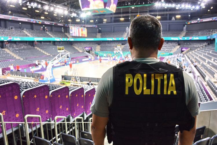Zeci de polițiști, din Spania și România, asigură paza la campionatul EUROBASKET 2017