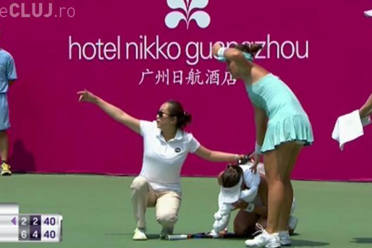 TENIS: Românca Patricia Țig s-a probușit pe teren în timpul unui meci. A fost nevoie de intervenția medicului
