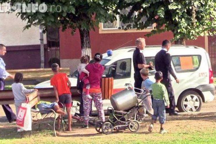 """Alertă la Gherla, după ce un copil a fost văzut pe stradă cu o """"bombă"""" în mână VIDEO"""