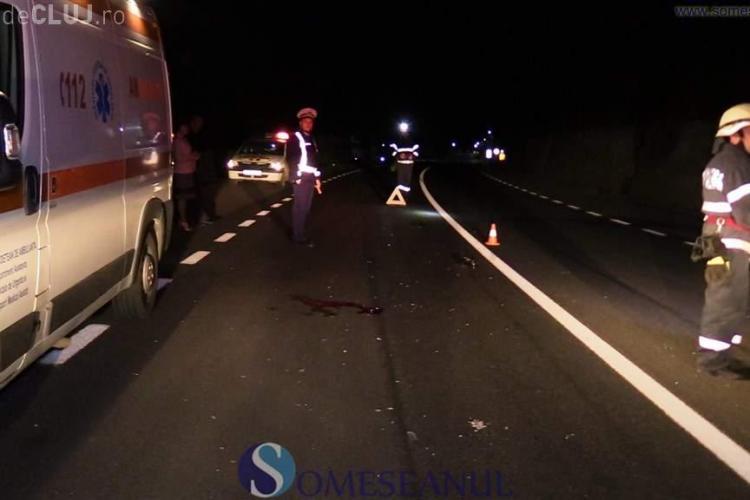 CLUJ: Accident grav pe DN 1C. Un pieton spulberat de mașină chiar în fața casei VIDEO
