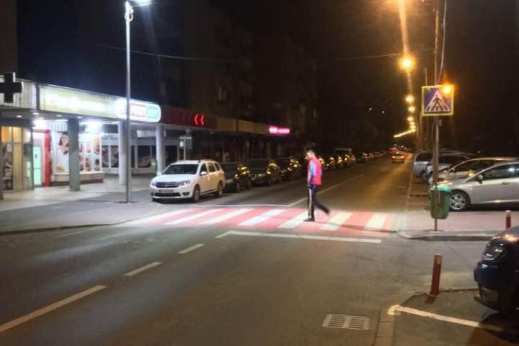 Cluj-Napoca: A fost inaugurată prima trecere de pietoni suprailuminată - FOTO