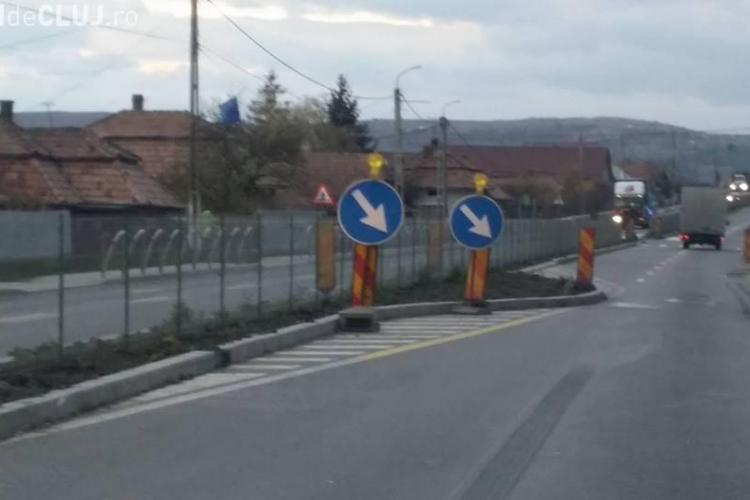 Separatoarele de beton din Tureni, de pe DN 1, reclamate la ministrul Transporturilor