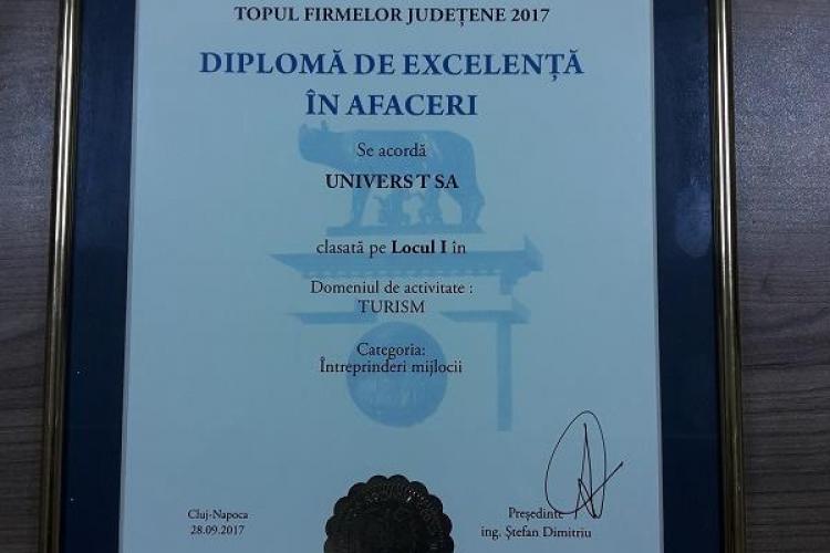 Univers T obține un nou premiu de excelență în afaceri (P)