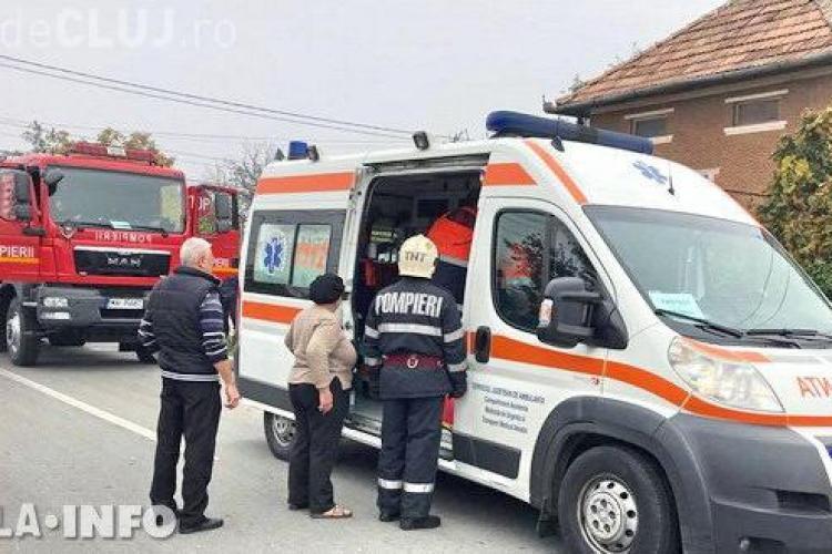 CLUJ: Tavanul unei case s-a prăbușit peste o femeie la Gherla VIDEO