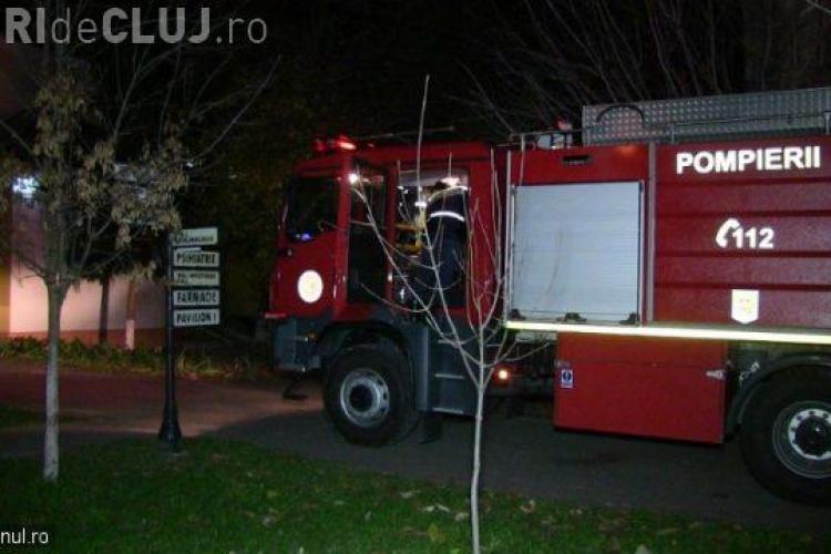 Incendiu la Spitalul din Dej. Focul a izbucnit la secția de Psihiatrie