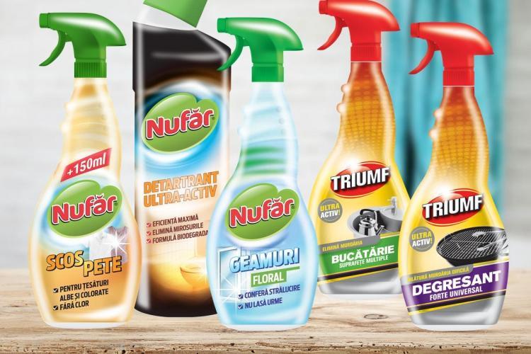 Farmec relansează cele două branduri consacrate pentru curăţenia locuinţei – Nufăr şi Triumf (P)