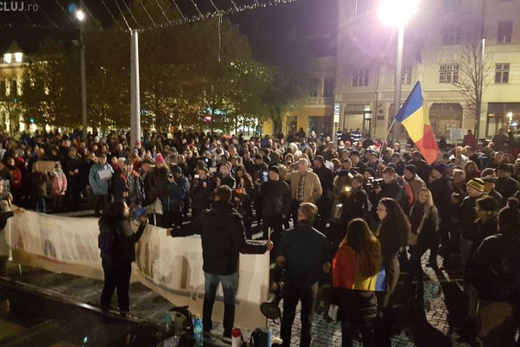 Proteste masive la Cluj și în restul țării, duminică seară, împotriva reformei fiscale și a legilor Justiției. Vezi la cât începe