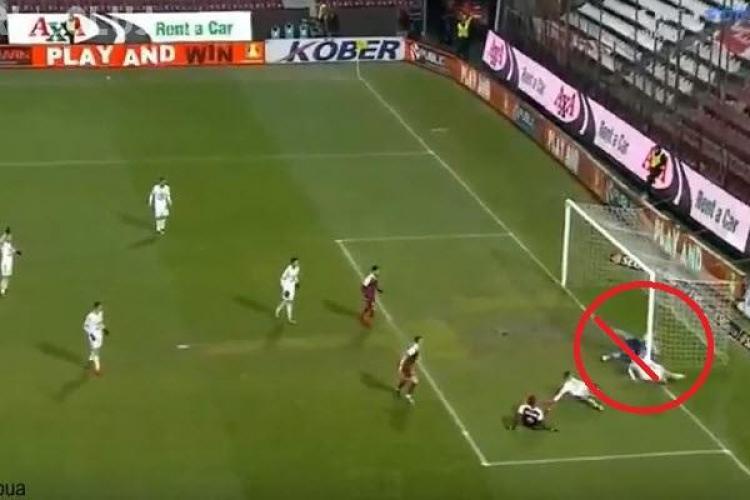VIDEO - Gol controversat al CFR Cluj în meciul cu Spesi. A intrat mingea în poartă?