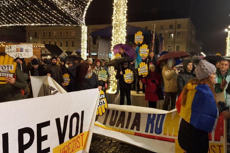 UPDATE Protest la Cluj! Peste 5.000 de oameni au ieșit în stradă FOTO/VIDEO