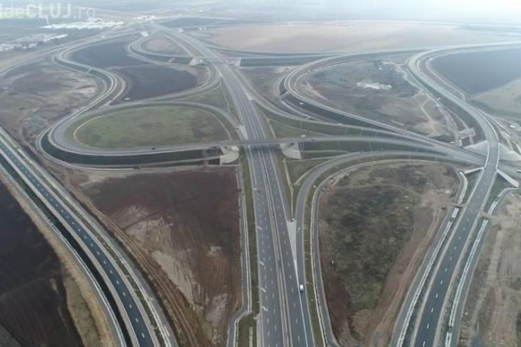"""Clujul are cel mai spectaculos nod de autostradă din țară. """"Te lauzi cu catarama, dar n-ai curea"""" - FOTO"""