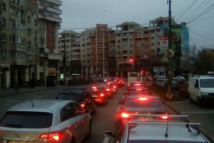 Coșmar în trafic în Gheorgheni! Brâncuși și Titulescu noile puncte fierbinți - FOTO