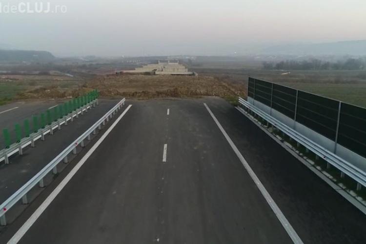 Autostrada Transilvania chiar duce nicăieri! După 4 ani se lucrează, în final, și la podul peste Someș - VIDEO