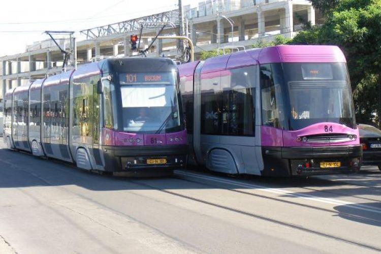 Boc: Linia de tramvai va fi legată de calea ferată. Se deschide zona Apahida - Jucu - VIDEO