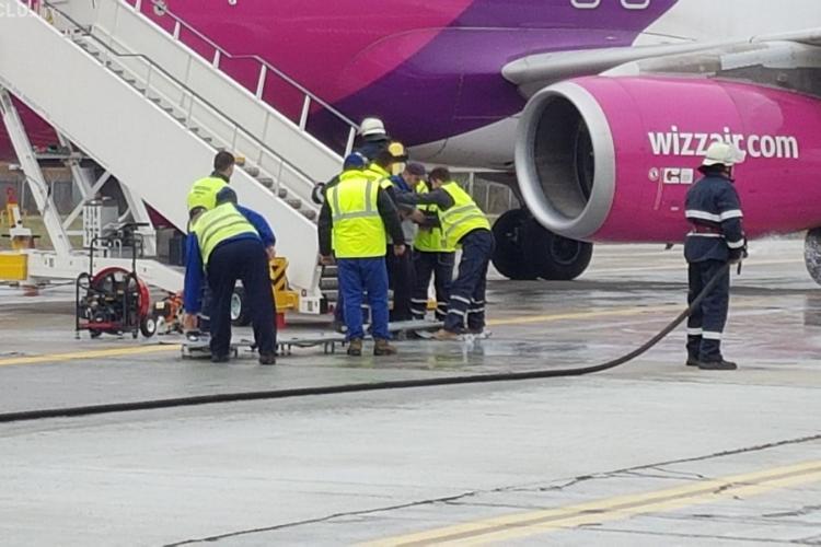 Exercițiu de antrenament pentru situații de urgență pe Aeroportul Cluj FOTO/VIDEO
