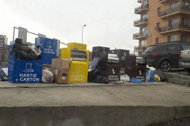 Cluj: Cum arată pubelele îngropate pentru colectare selectivă - FOTO