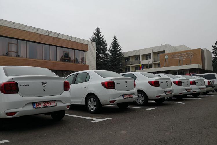 IPJ Cluj a primit zece autospeciale Dacia Logan, pentru a fi folosite în misiuni FOTO