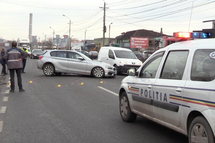 CLUJ: Accident între un BMW și un Audi, la Dej. O femeie a fost rănită VIDEO