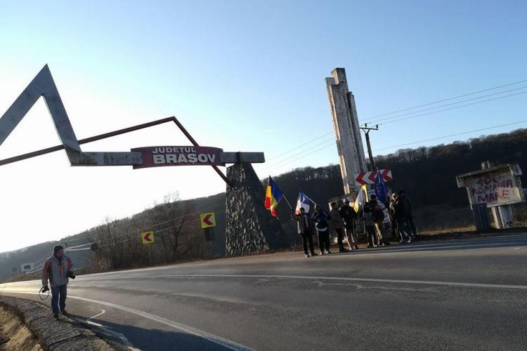 Marșul Speranței a ajuns la Brașov! S-au alăturat și alți protestatari - VIDEO