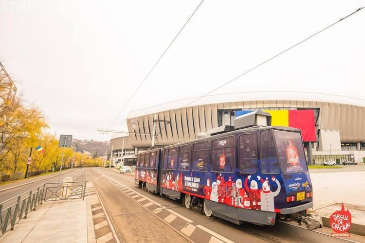La Cluj-Napoca va circula tramvaiul lui Moș Crăciun. Pe ce traseu