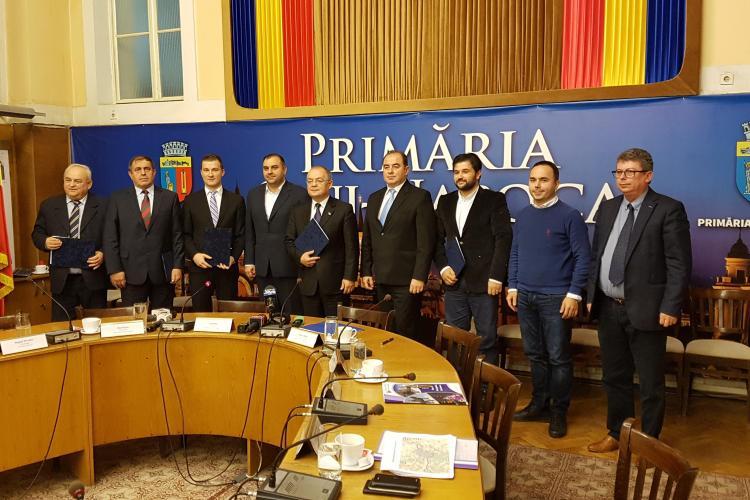 """S-a semnat """"certificatul de naștere al centurii metropolitane a Clujului"""" - VIDEO"""