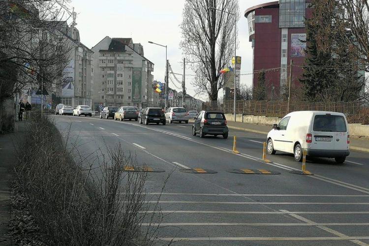 Cluj-Napoca: Limitatoare de viteză pe Calea Turzii - FOTO
