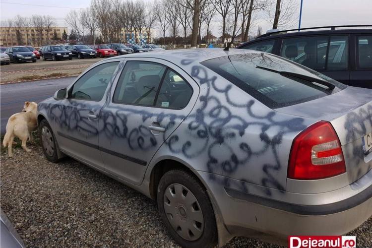 Un dejean și-a găsit mașina vandalizată a treia oară - FOTO
