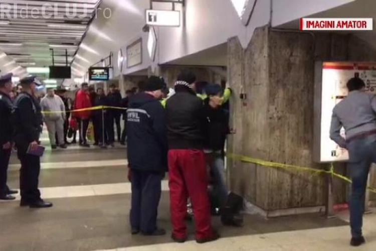 CRIMA de la METROU. O femeie a împins o tânără de 25 de ani în faţa metroului