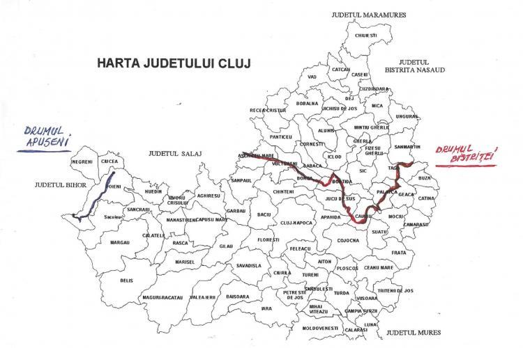Cluj: Drumul Apuseni și Drumul Bistriței reabilitate cu fonduri europene