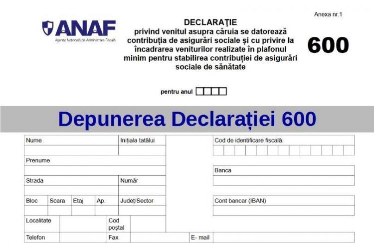 Cluj: Declarația 600 se poate trimite și electronic