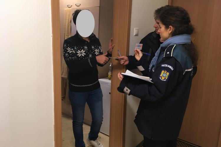 Controale în cămine la Cluj. Studenții s-au trezit cu poliția la ușă FOTO