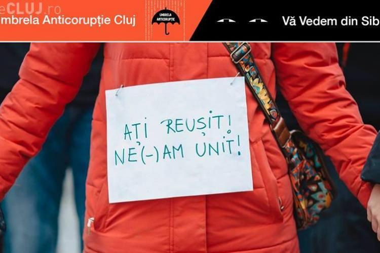 Protest, sâmbătă, la Cluj: Ne(-)am unit: Vă vedem din Cluj și Sibiu