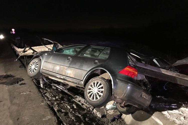 Cluj: Accident teribil pe centura Vâlcele - Apahida. Minune că a scăpat cu viață - FOTO