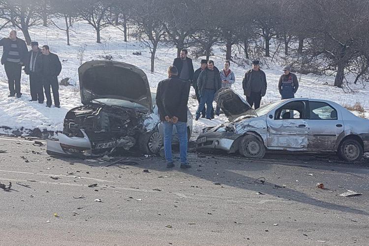Accident grav în curba morții, pe Feleac - FOTO