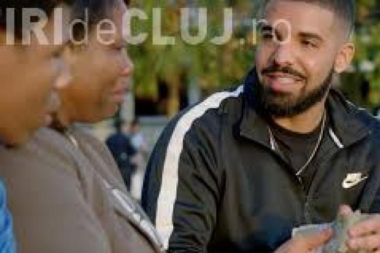 Celebrul rapper Drake a donat 1 milion de dolari în timp ce filma un videoclip VIDEO