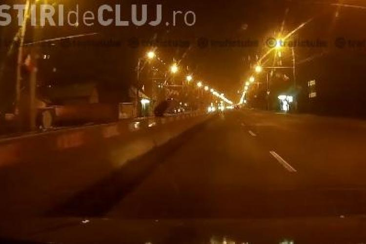 Cluj: Pieton sinucigaș lângă Podul Ira - VIDEO