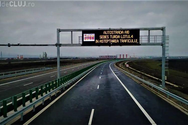 RECORD negativ pe Autostrada Turda - Sebeș! Două tronsoane sunt terminate și stau închise - FOTO