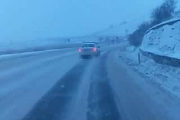 Drumul național Cluj-Napoca - Turda, un PERICOL pentru șoferi: Iarna nu-i ca vara! - VIDEO