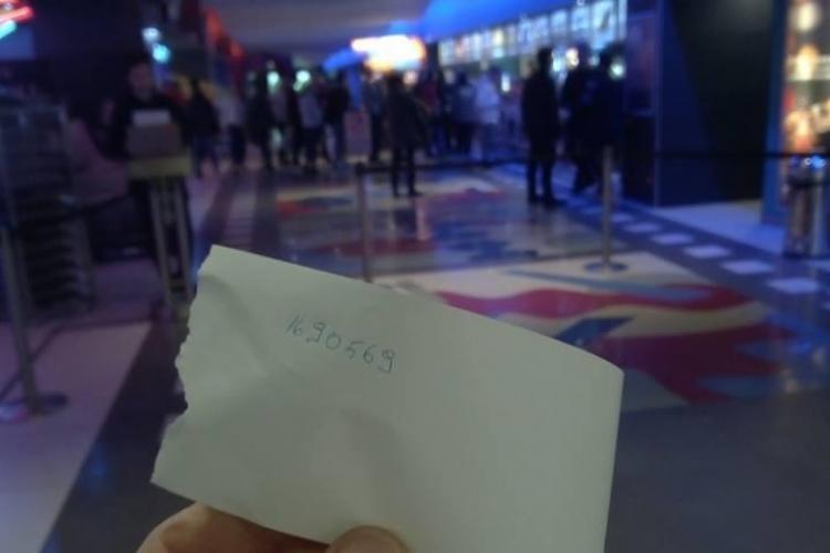 UPDATE Explicația Cinema City. Ce s-a întâmplat de fapt/ Așa arată un bilet la cinema Cinema City Vivo Cluj - FOTO