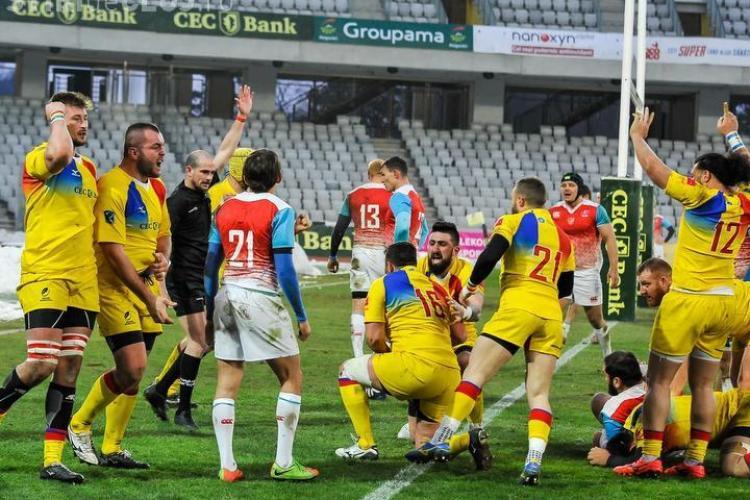 """VICTORIE pentru naționala de Rugby a României pe Cluj Arena! """"Stejarii"""" au învins Rusia și continuă drumul spre mondiale"""