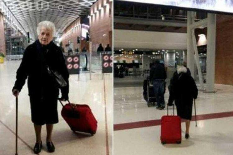Fotografie emoționantă cu o bunică de 93 de ani care a devenit virală