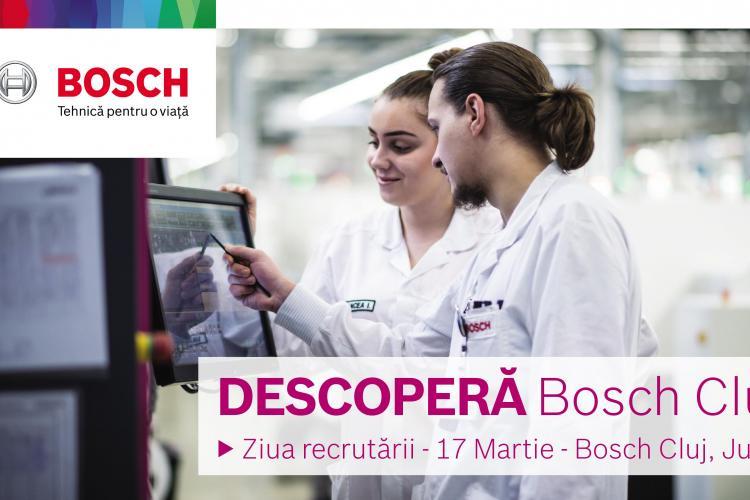 Descopera Bosch Cluj. In 17 martie, Bosch Cluj te asteapta la Ziua Recrutarii la Bosch! (P)