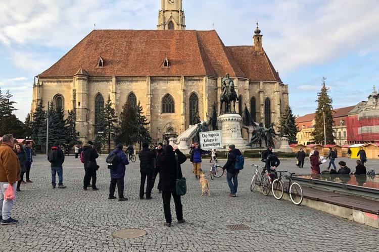 Mai mulți ziariști decât etnici maghiari la protestul pentru PLĂCUȚE - FOTO