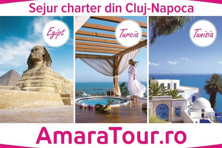 Amara Tour lansează chartere săptămânale din Cluj-Napoca spre Egipt, Tunisia și Turcia